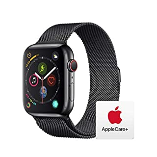 Apple Watch Series 4 (GPS + Cellular, 44mm) - Space Black Stainless Steel Case with Space Black Milanese Loop with AppleCare+ Bundle (B07RMRW348) | Amazon price tracker / tracking, Amazon price history charts, Amazon price watches, Amazon price drop alerts