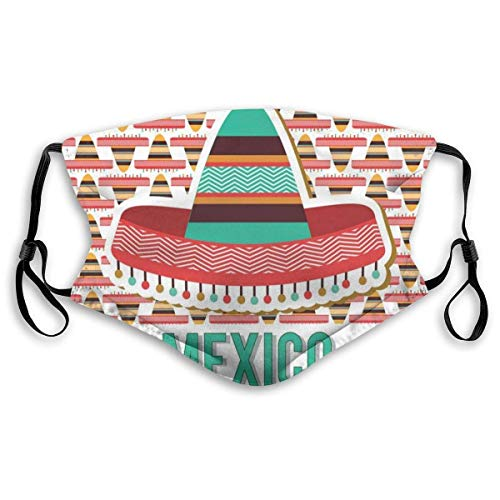 Mexico Design cultuur etnische hoed kostuum traditionele elementen filtering face cover