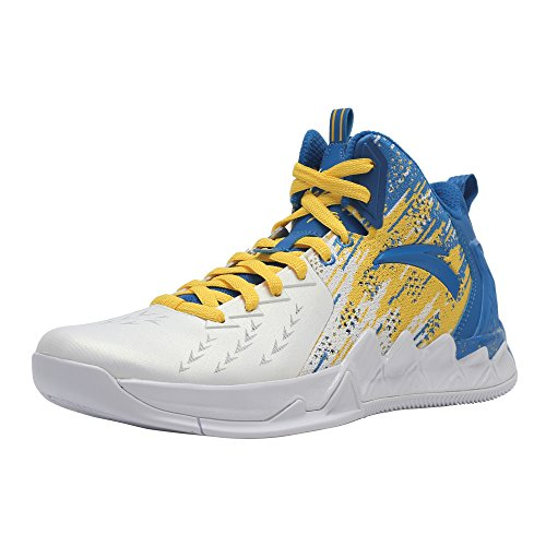 ANTA Men's KT2 2017 Basketball Shoes (11 D(M) US, KT2-Post Home-White/Royal Blue/Yellow)