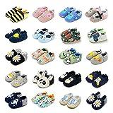 BENHERO Infant Baby Boys Girls Shoes Soft Sole Cartoon Slipper Soft Sole Moccasins Toddler First Walker House Walking Crib Shoes (9-12 Months Infant, K/Green Lion)