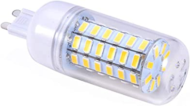 Uonlytech G9 220V 8W 56 LEDs 5730 LED Corn Lamp Bulbs Corn Bulbs with Transparent Shell