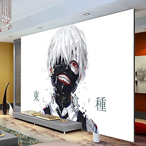 Papel Pintado Anime Wallpaper Wallpaper Tokyo Ghoul 3D Mural De Pared Boys Room Dormitorio Decoración-400X280Cm
