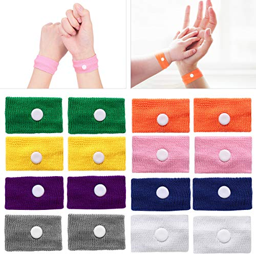 ROSENICE Motion Sickness Bands - (8 Pairs )Natural Acupressure Nausea Relief Wristbands Anti Nausea Bracelet Drug-Free for Sea Car Flying Pregnancy Travel Sickness