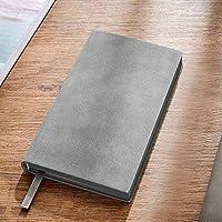 ミニノートPC、ソフトsurfacenotebook、本物のシープスキン、6.8 x3.9、ビジネス、一般的なノートブック、絶妙なビジネスの文学と芸術(色:バーガンディ) RTUTUR (Color : Gray)