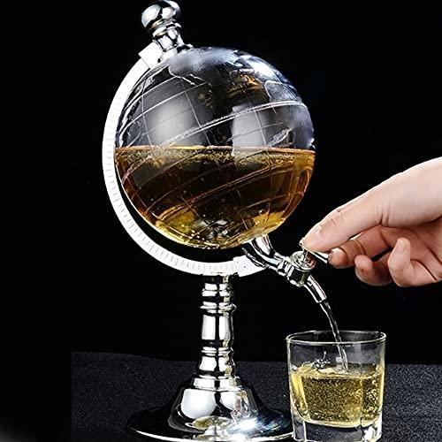 MQQ Decantador De Vino De 1.5L, Conjunto De Decantores, con Diseño De Grifo Elegante Jarra De Cristal, Accesorios De Vino, Diseño De Modelado Creativo, Regalos De Vino Kit De Vidrio Sin Plomo