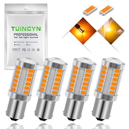 Lot de 2 ampoules LED Tuincyn de 650 lumens pour remplacement des feux de recul lat/éraux arri/ères compatible 1157 BAY15D 1016 1034 1196 tr/ès blanches clignotants 12 V-24 V DC//CC 3,1 W