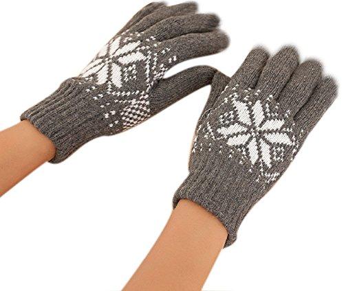Demarkt Gloves de Duvet Couvre –Gants image de Flocon De Neige pour Homme 3 Couleurs –Longueur Du Médius:9CM (gris)