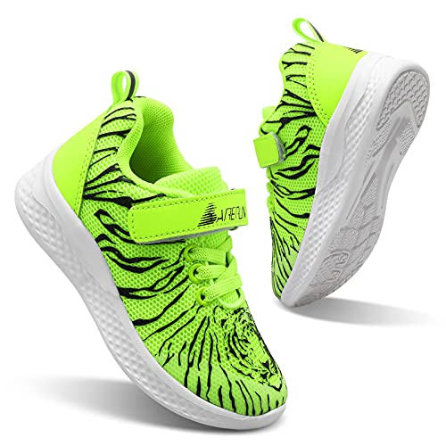 BARERUN Boy Shoes Athletic Running Fashion Sneakers Walking Breathable Kids Girls Fitness Cross-Training Tennis Lightweight Shoes(Toddler/Little Kid/Big Kid) Yellow 11.5 Little Kid