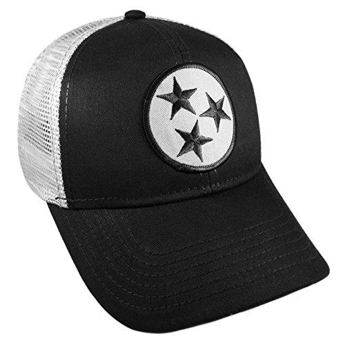 Strange Cargo Tennessee Flag Black and Grey Curved Brim Cap Hat Snapback Adjustable