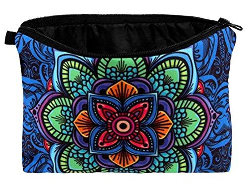 Mandala Kosmetiktasche bunt Schminktasche Make Up Tasche