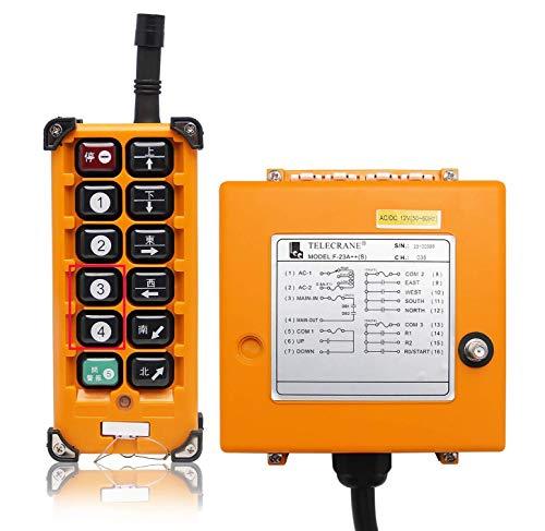 NEWTRY 12 botones de control remoto inalámbrico de grúa 220 V canal...
