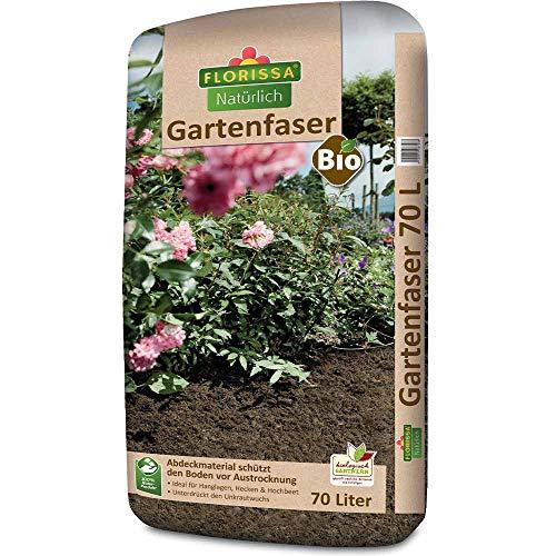 Florissa Natürlich 58728 Bio Gartenfaser (70 l) | vegan | Schützt vor Austrocknung und Unkraut | ideal für Hanglagen, Hecken und Rosen, Braun