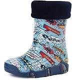 Ladeheid Botas de Agua Zapatos de Seguridad Calzado Unisex Niños Niñas Swk 26 (Multicolor Bang,...
