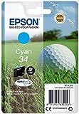 Epson C13T34624010 - Cartucho de inyección, color cyan válido para EPSON WorkForce Pro WF-3720DWF / WF-3725DWF, Ya disponible en Amazon Dash Replenishment