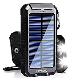 in budget affordable 20000mAh Solar Power Bank Solar Charger Waterproof Portable Charger with Compass for iPad…