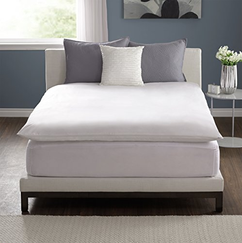 Pacific Coast Feather Basic Topper Mattress Protector, Full, White