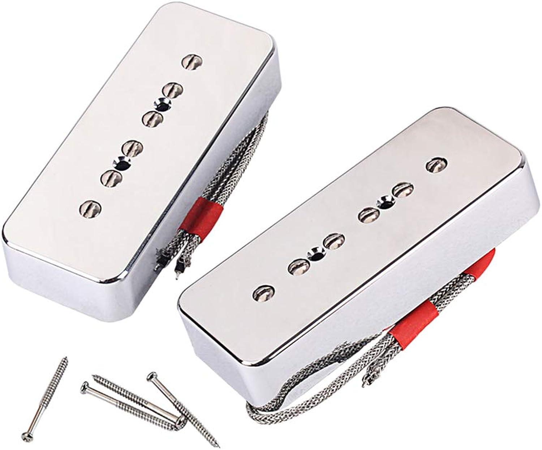 LIOOBO 2 stücke GMB223 Gitarre Pickup Set Gitarre Humbucker Pickup Brücke für E-Gitarre Teile Ersatz (Silber)