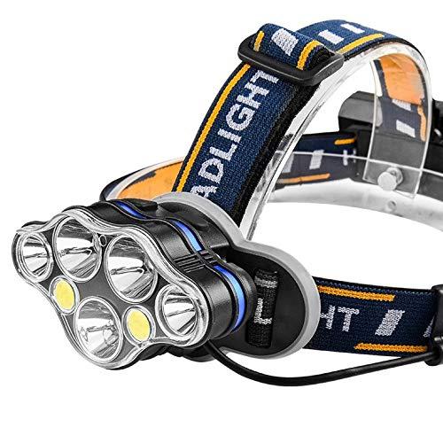 QiKun-Home Faro LED faro USB recargable cabeza antorcha Super brillante impermeable faros para camping ciclismo escalada senderismo negro