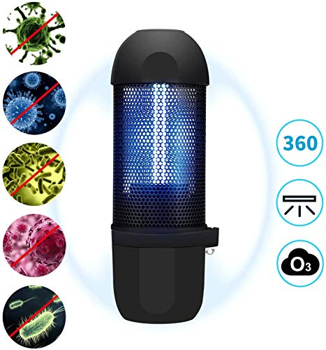 Ukuu UV Desinfektion Lampe 99% Sterilisationsrate mit keimtötenden Ozonlampen Tragbare USB-Ladelampe für Auto Haushalts Schule Hotel Pet Area