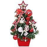 Adorno De Sobremesa De Árbol De Navidad Mini Árbol De Pino Artificial De Navidad con Luces LED De Cadena Y Adornos Árbol De Navidad En Miniatura Iluminado con Luces LED para Navidad Decoración