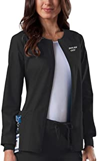 Embroidered Cherokee Women's Workwear Scrubs Core Stretch Zip Front Warm-Up Jacket (Style 4315)