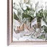 CottonColors 窓用フィルム 目隠しシート 何度も貼直せる 窓ガラスフィルム 紫外線カット 90x200cm のり無し 3Dステンドグラス DIY 020夢の間