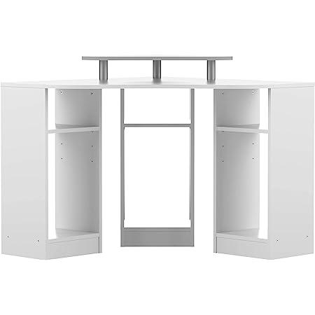 Symbiosis Corner, Bureau d'Angle, Panneaux de Particules Mélaminés, Blanc 94 x 81,8 x 94 cm (LxPxA)