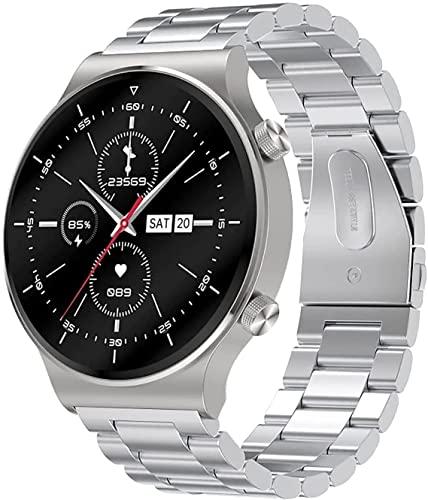 ZWG Smart Watch Uomini IP68 Impermeabile Orologio Sportivo Maschio e Femmina Fitness Watch con Monitoraggio della Pressione Sanguina/Frequenza Cardiaca Adatto per iOS Android(D)