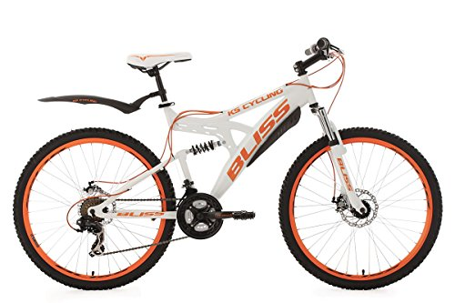 KS Cycling Mountainbike Fully 26\'\' Bliss weiß-orange RH 47 cm