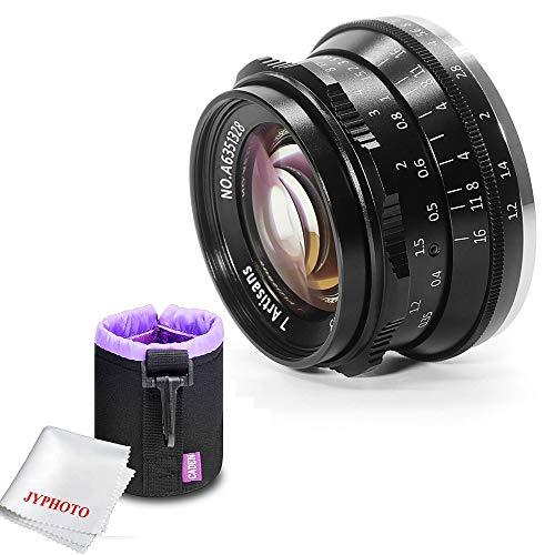 7artisans 35mm f1.2 Große Blende Manuelle Fokus Standard Prime Objektiv für Sony E-Mount Kameras mit Caden Objektiv Tasche mit JYPHOTO Tuch