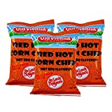 Old Vienna of St. Louis Snacks (Red Hot Corn Chips Hot Barbecue, 8 oz 3 Pack)