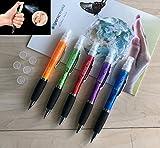 Penna spray - Igienic Pen 5 penne a sfera con contenitore per igienizzanti mani
