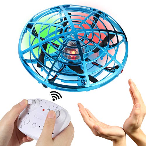 gootrades Hand Operated Mini Drone for Kids with Remote Control, Flying Fairy Toys, USB Rechargeable UFO Drone for Boys and Girls,Cool Gadgets for Teens