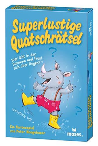 moses. Verlag GmbH 90349 Quatschrätsel | Witziges Kartenspiel zum Querdenken| Mit Worträtseln für Kinder ab 6 Jahren