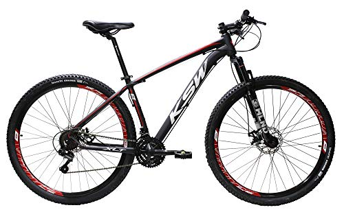 Bicicleta Aro 29 Ksw Aluminio Cambios Shimano 21v Freio À Disco (Preto/vermelho/branco, 15)