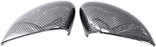 Right Side Wing Mirror Cover Cap Anti-Dust And Raindrop Mirror Protection Cover Casing Primed For Ford Fiesta B-Max 2010 (Carbon pattern)