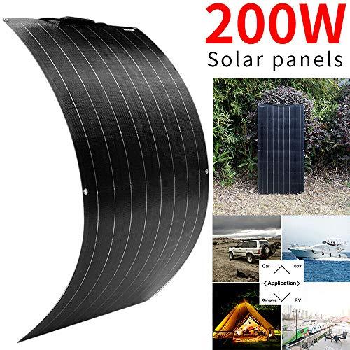 Pannelli monocristallini flessibili del pannello solare 200W per la carica di camper della casa di campeggio