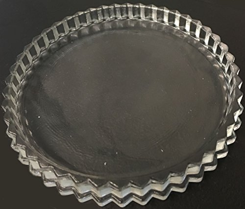 CONCEPT4U 12cm Round Clear Glass Pillar Candle Holder Plate Plant Pot Dish Stand Table Decoration