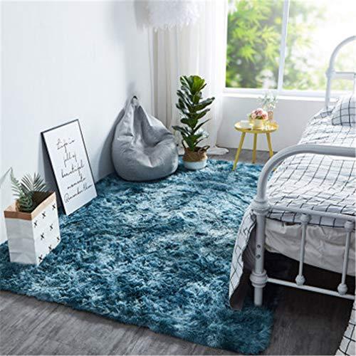 BBXW Indoor Modern Teppiche,Weich Flauschig Shaggy Anti Rutsch Teppich,Für Kinder Schlafzimmer Startseite Ornament Fußmatten,Langflor Wohnzimmer Carpet