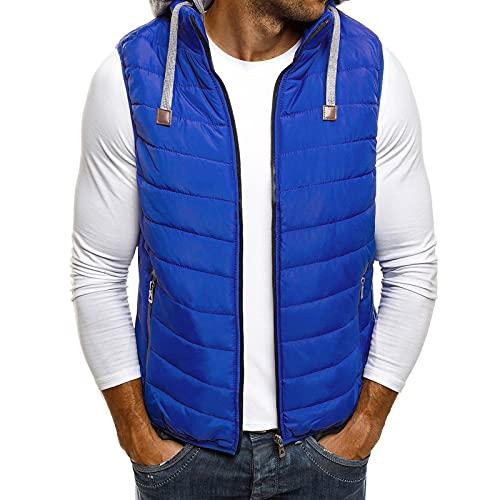 Men's Hooded Vest Coat Autumn Winter Sleeveless Waistcoat Jacket Tops Thick Warm