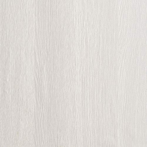 Papel Pintado Autoadhesivo con Efecto Madera de Color Blanco y Gris con Rayas Engrosadas Papel de Contacto Rollo Extraíble Para Puerta de Cocina Armario de Puerta Barra Mostrador 40x200cm