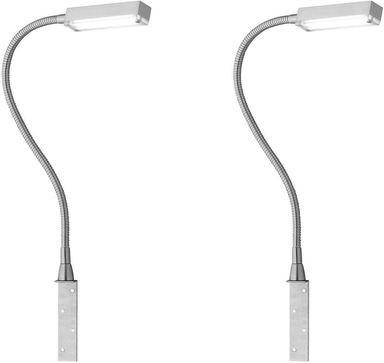 2er Set LED Leseleuchten Bettleuchten RAIK zum Anschrauben, dimmbar per Gestik