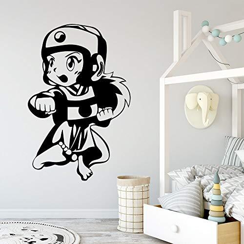 Grandes pegatinas de pared de taekwondo pegatinas de decoración habitación de los niños decoración natural sala de estar mural pegatinas de dormitorio A2 57x87cm