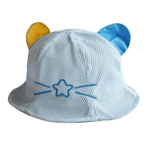 Lovely Cap Cotton Sunhat Chapeau de plage pliable Grand cadeau Chapeau de bébé Chapeau d'été Bleu