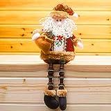 MoreLucky Covermason - Adornos navideños de Papá Noel sentados (52 x 22 cm), diseño de muñeco de nieve
