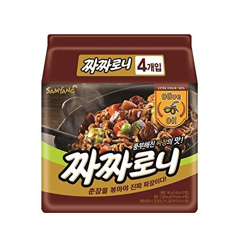 Samyang] Jjajangmyeon 140g × 4EA / Koreanisches Essen/Koreanisches Ramen (Übersee-Direktversand)