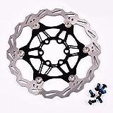 Fahrrad Bremsscheibe 160mm 6 Loch MTB Edelstahl Scheibenbremse Bremsscheiben, Fahrrad bunte Bremse Rotoren, Schwarz
