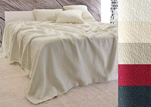 Baumwolldecken Wohnen und Accessoires Edle Tagesdecke Estoril Paisley Muster beige 240x260