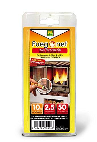 FUEGO NET Fuegonet 231244 Cordón, Negro, 11x3x22 cm