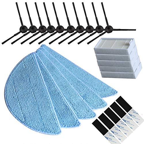 ADUCI 10 Cepillo Lateral + 5 Filtro HEPA + 5 Mop Cloth + 5 mágica Pasta for la Chuwi ILIFE V3 V3 + X5 V5 V5s V5 Pro Aspirador de Piezas de Repuesto